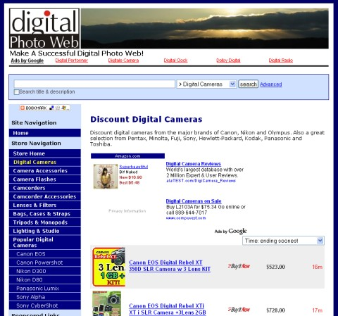 Digital Camera Discount Store