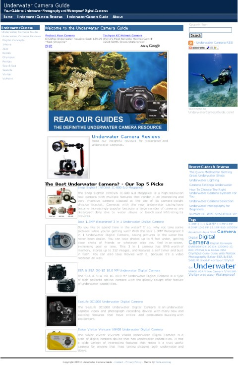 Underwater Camera Guide - screenshot